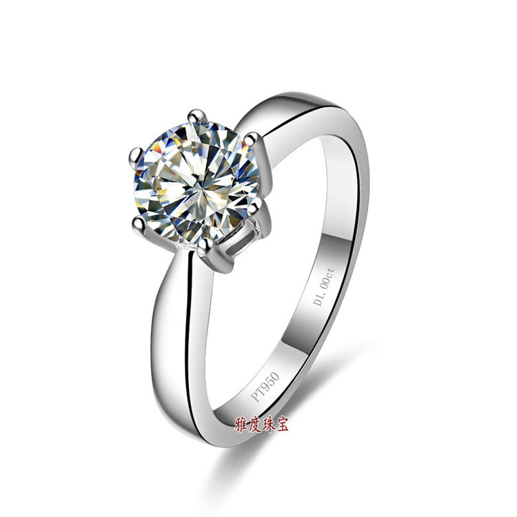 Classic design 6 prong setting 3 Carat NSCD Simulated Diamond Engagement Ring