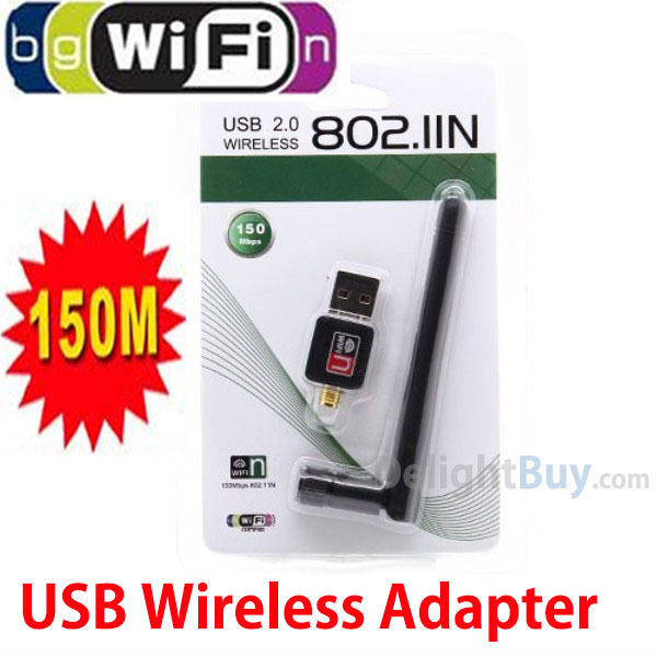 wholesale Mini 150M USB WiFi Wireless Network Networking Card LAN Adapter with Antenna Ralink RT5370(China (Mainland))