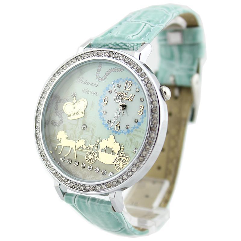 New fashion MINI Polymer Clay Handmade Women Dress Watch Jewel princess queen luxury carriage quartz Watch Wristwatches C007(China (Mainland))