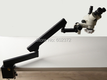 Envío gratis! 3.5X – 90X microscopio estéreo del zumbido + soporte articulado con CLAMP + 56LED
