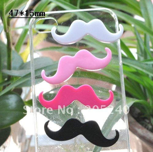 flat back resin moustache 20pcs mixed 4colors 47*15mm(you can pick the colors you like)(China (Mainland))