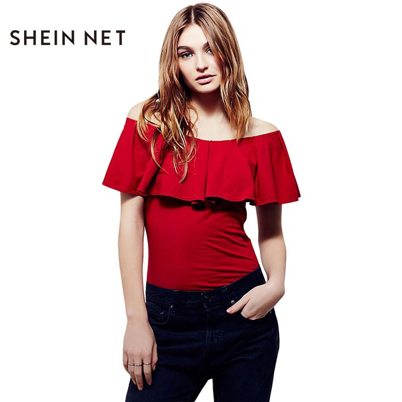 Online kaufen gro handel frilled blusen aus china frilled for Shein frauen mode