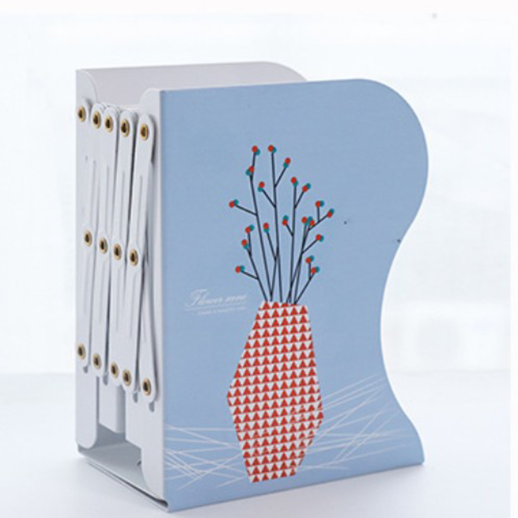 Heavy Duty Retractable Bookends Metal Iron Adjustable Books Holder Stand Desktop Bookend