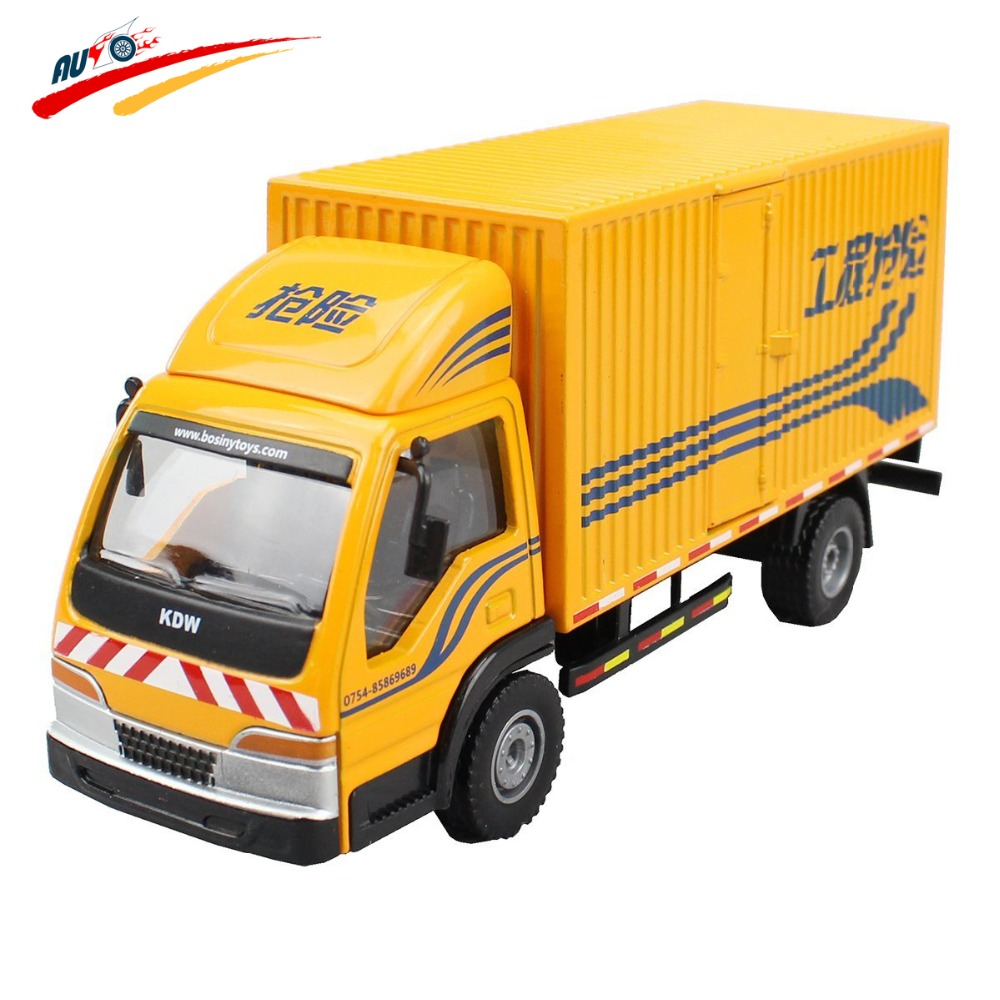 Alloy 1:50 Box Van Truck Diecast Vehicle Model Toy Container Rear and Side Door Open(China (Mainland))