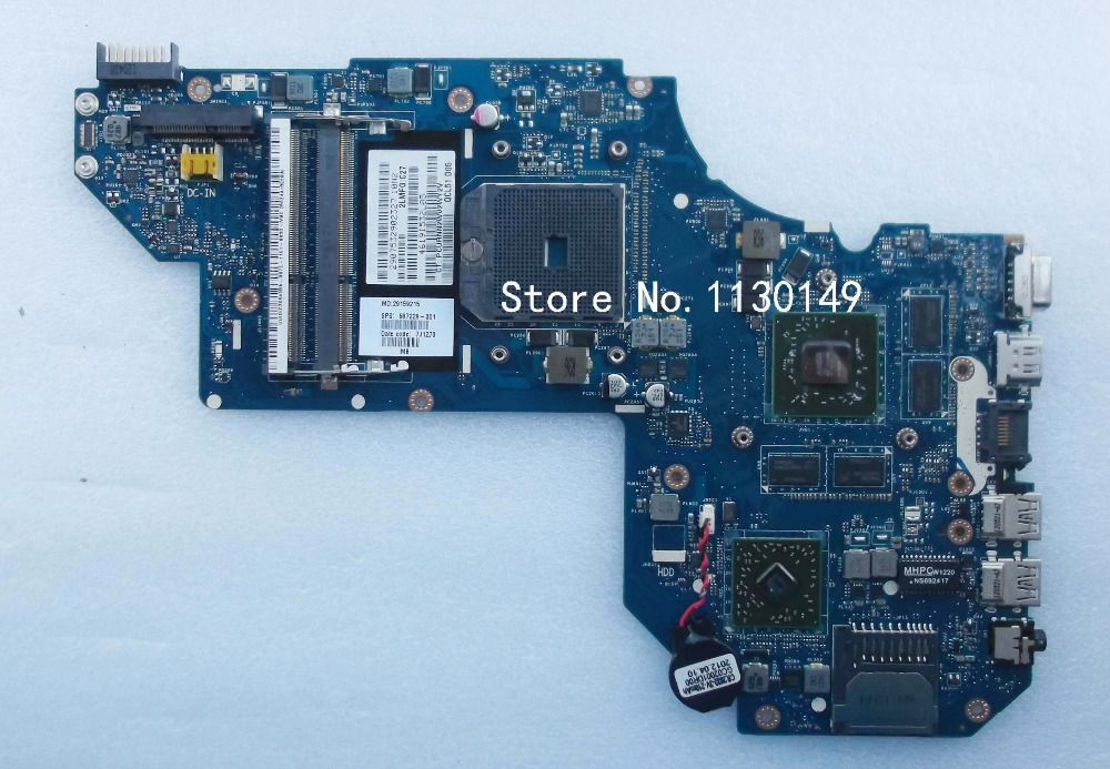 Free Shipping QCL51 LA-8712P REV :1.0 Laptop Motherboard Fit For Hp pavilion M6 Notebook PC 687229-001 7670 2G(China (Mainland))