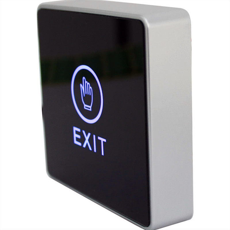 FREE SHIPPING Infrared Contactless Bule Backlight Touch Exit Button\Door Release Switch for Access Control Electronic Door Lock(China (Mainland))