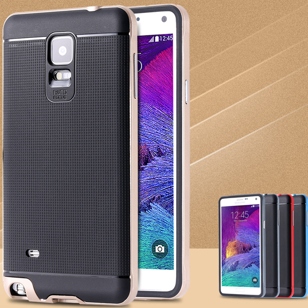 Luxury Ultra Thin Hybrid PC+TPU Capa Case For Samsung Galaxy Note 4 IV N9100 Durable Mobile Phone Back Cover For Galaxy Note 4(China (Mainland))