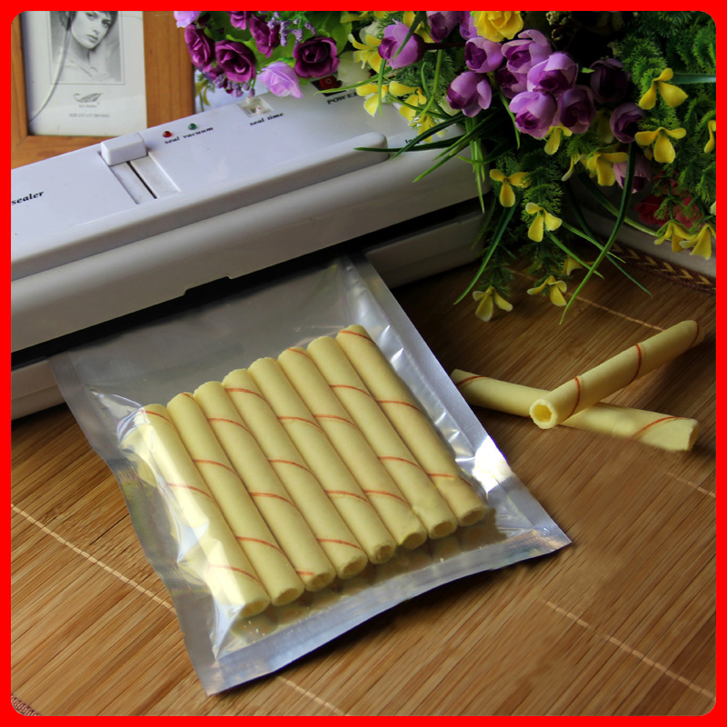 100pcs/lot 18cm*25cm*160mic High Quality Half Clear + Al Foil Food Bags Retail Shopping Bags Wholesaler(China (Mainland))