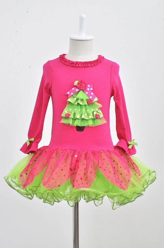 Buy christmas dress baby kids girls long sleeve santa party tops dress