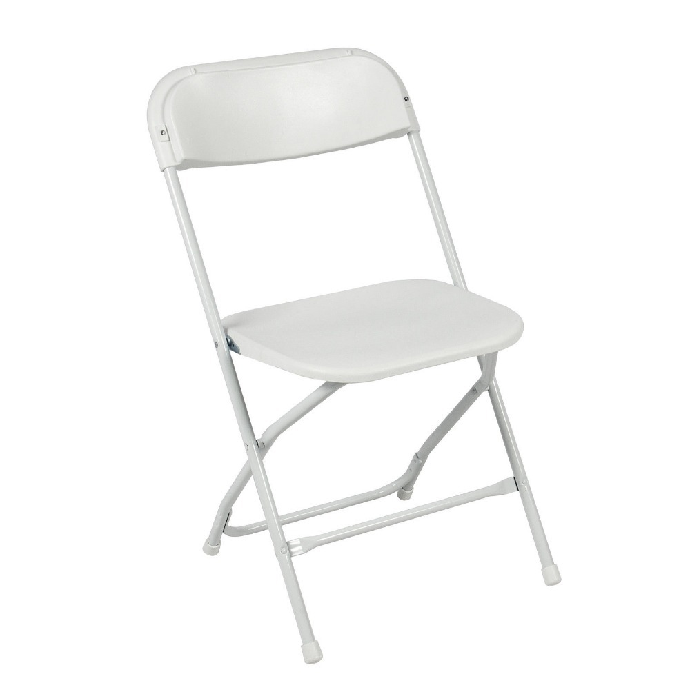 5 PECS mercial White Plastic Folding Chairs Stackable Wedding Party Event