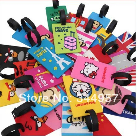 2014 New Creative Cartoon Silicone Card Luggage Tag Kawaill ID / Bus / Credit Card Cover  Travel Accessories wholesale<br><br>Aliexpress