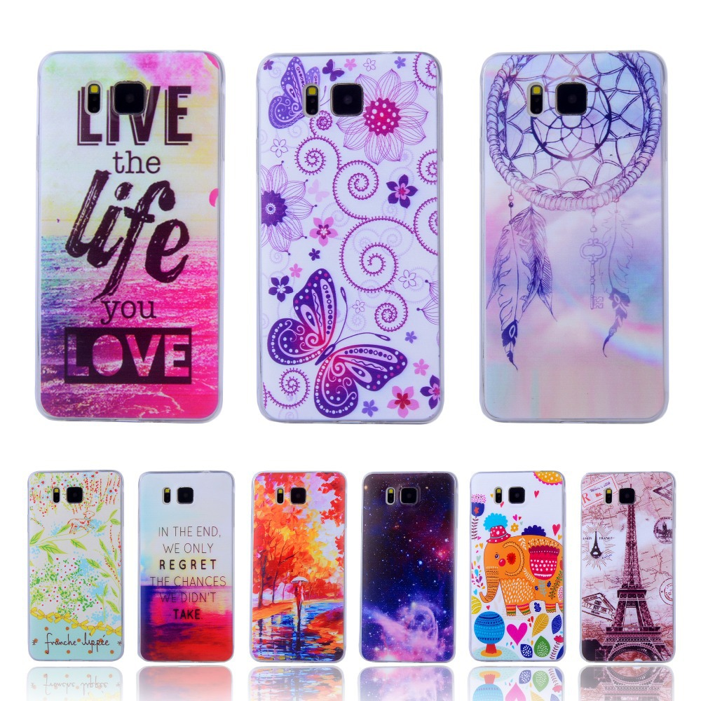 New Ultra-thin Clear Crystal Cartoon Pattern Soft Case For Samsung Galaxy Alpha G850 G850Y Cell Phone Protective Back Cover Bags(China (Mainland))