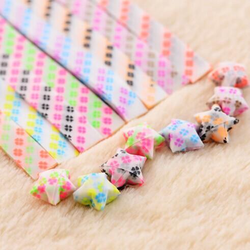 ILOVEYOU luminous stars love origami paper lucky stars bottle tube material DIY gift 25pcs/pack(China (Mainland))
