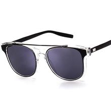 High-grade Transparent Frame Sunglasses Women Reflective Coating Lens Fashion Metal glasses Men italy design sunglasses A270(China (Mainland))