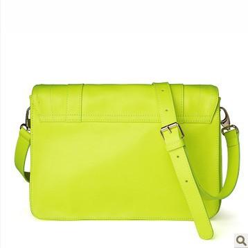 2014 New lady women Portable TMC Women Candy Color Handbag Green PU Leather Messenger Crosss Shoulder Bag Nwt YL160