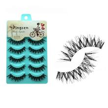 New 5 Pairs Natural Soft Eye Lashes Makeup Handmade Thick Fake False Eyelashes Voluminous Makeup(China (Mainland))