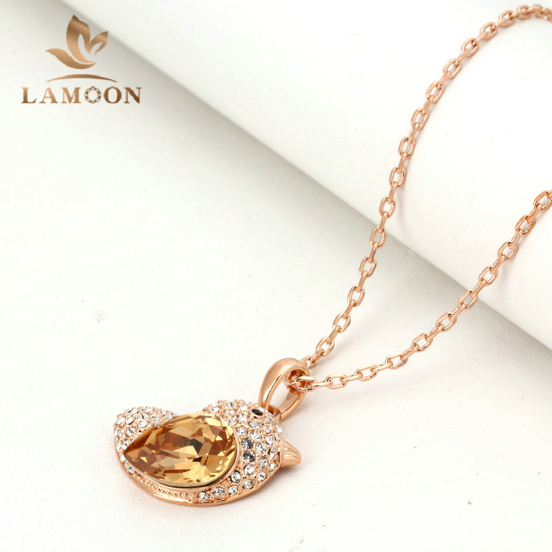 Top Quality N053 Orange Fat Bird Necklace Rose Gold Plated Fashion Jewellery Nickel Free Pendant Crystal(China (Mainland))