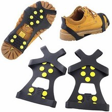 Non-slip snow cleats Anti-Slip overshoes Studded Ice Traction shoe covers Spike VS117 P00(China (Mainland))