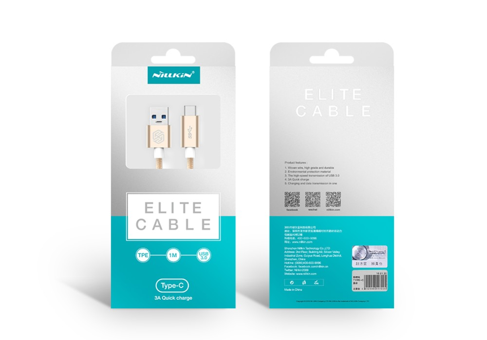 Usb to Type-c usb cable with 1m length and three colors and TPE material. for xiaomi 5 and macbook,its namde Elite.
