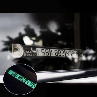 Temporary Parking Card Luminous Phone Number Card Plate For Land Rover Range Rover/Evoque/Freelander/Volvo S40 S60 S80 XC60 XC90(China (Mainland))