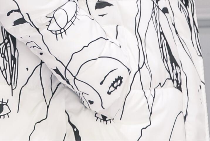 Скидки на Мода Зима Женщины Длинное Пальто Сгустите Вниз Хлопок Зимняя Куртка Теплое Пальто Женщина С Капюшоном Печатных Для Женщин Пиджаки Женские Ветровки