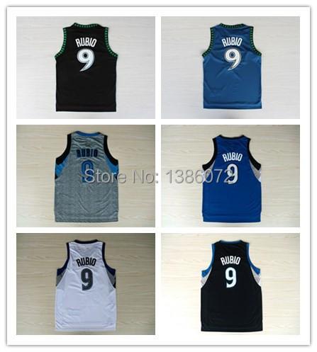 Kids Minnesota 9 Ricky rubio Basketball Jersey Youth, New Fabrics REV 30 - jerseys store