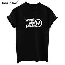 New Summer style t shirt Sleeve Cotton t-shirt Women t-shirts twenty one pilots lover tees white black(China (Mainland))