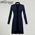 Meaneor Cardigan women Ms windbreaker 2016 2017 Autumn winter Long Sleeve Cardigan Long Joker Coat Outwear