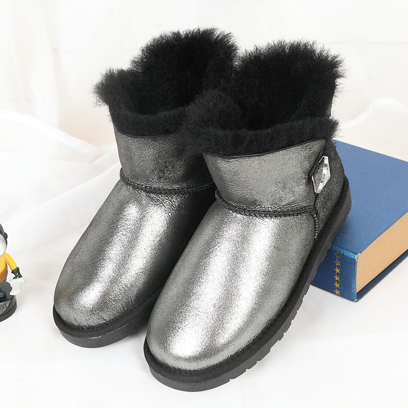 Special sales promotion high quality 100% Australian sheep fur one snow boots winter warm snow boots free delivery(China (Mainland))