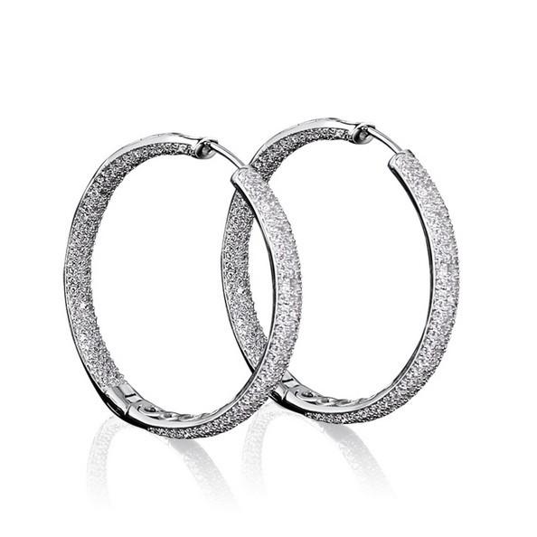 Latest Design Ladies Luxury Bridal Platinum Plating AAA Cubic Zircon Micro Pave Setting Earrings Lead Free Nickel Free Beautiful<br><br>Aliexpress