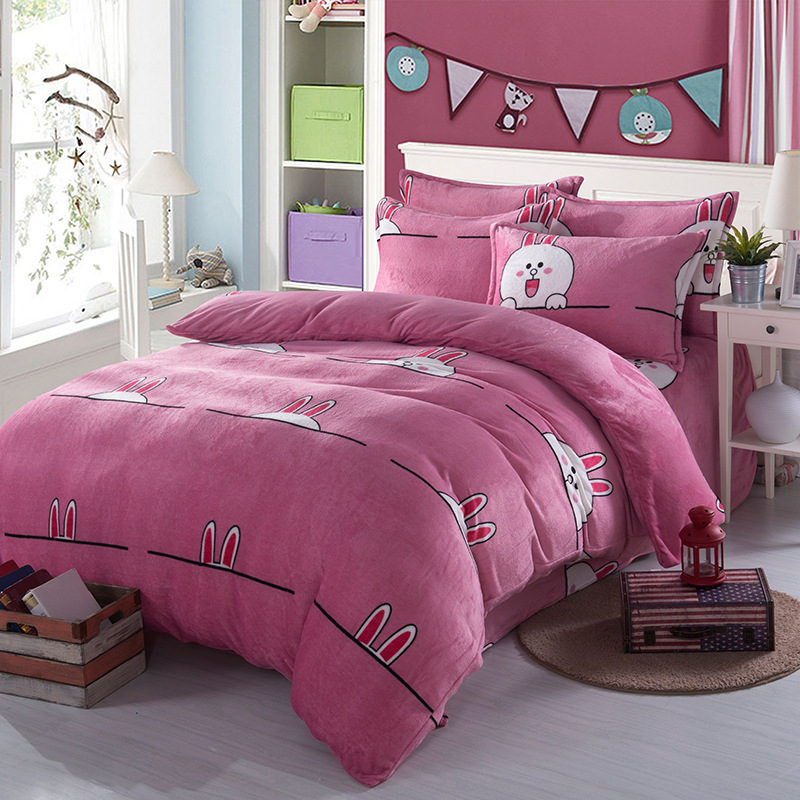 Flannel bedding sets promotion shop for promotional for Housse de couette king size
