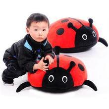 1 piece big size black and red dot soft plush toy ladybug stuffed animal for kid girl boy birthday gift unique innovative item(China (Mainland))