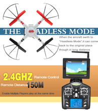New Arrival WL Toys V686G RC Quadcopter with 5.8G FPV+HD Camera+Headless Modeote Control Helicopter with Camera+FPV 2.4G Rem