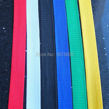 25 Yard 25mm 1'' Webbing Strap Polypropylene PP Belt Buckles 6 Colors Choice(China (Mainland))