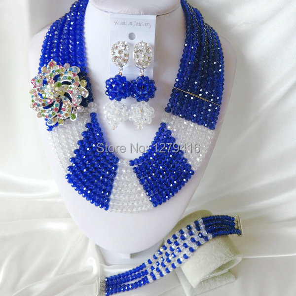 The beautiful blue Africa Wedding Pearl jewelry, crystal jewelry set  T-1461<br><br>Aliexpress