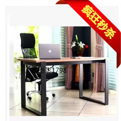 Solid wood furniture wood dining table and chair table computer Desk Retro iron bench table IKEA Nordic American country(China (Mainland))