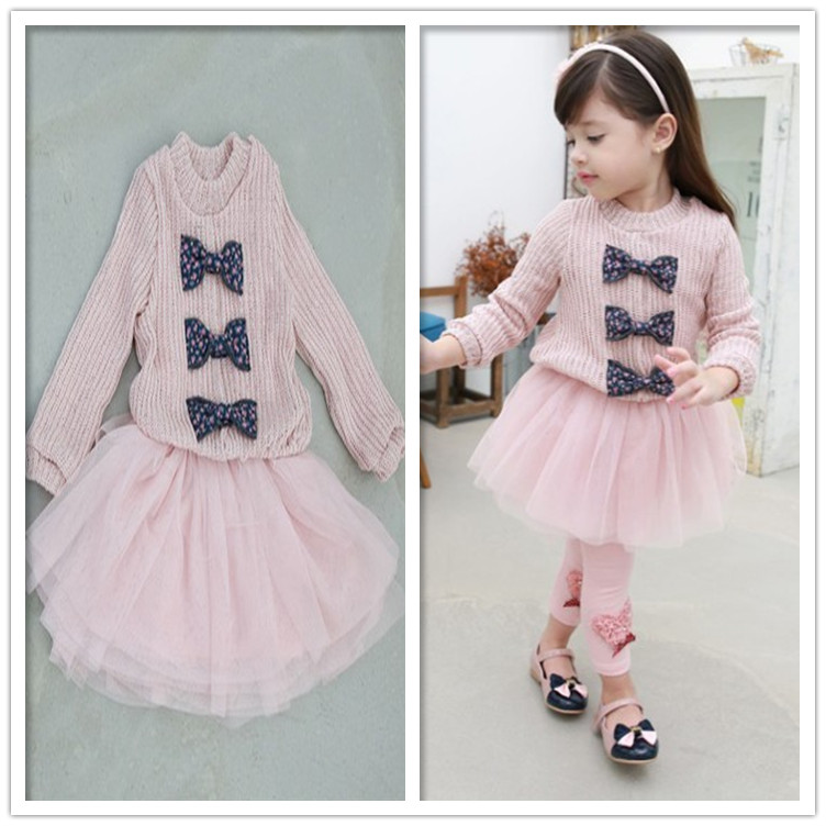 Female child dish patchwork one-piece dress girls pink bow gauze long-sleeve dress 2014 new design childrens flower dresses<br><br>Aliexpress
