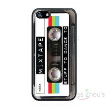For iphone 4/4s 5/5s 5c SE 6/6s plus ipod touch 4/5/6 back skins cellphone cases cover Mixed Tape Cassette Retro old 80's