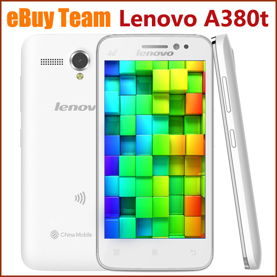 Original Lenovo A380T 4G Smartphone Android 4 4 MTK6582 Quad Core 1 3Ghz 4G ROM 4