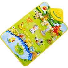 Toy Gift kids toy Animal Musical Music Touch Play Carpet Mat Toy toys for children juguetes educativos puzzle Free Shipping(China (Mainland))