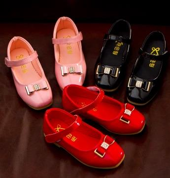 Children patent leather shoes brand spring 2016 girls loafers princess fashion single bow shoes chaussure pour enfant fille 488b<br><br>Aliexpress
