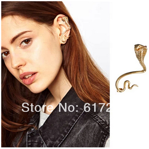JP936 2014 New Punk Animal Snake Ear Cuff With Non-Pierced Earrings For Women Free Shipping 12pcs/lot