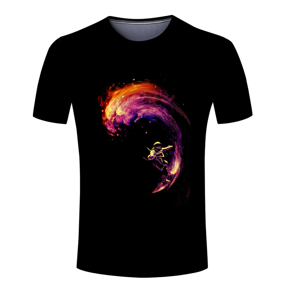 Space t shirt man Surf new style of fashion men casual o neck T-shirts(China (Mainland))