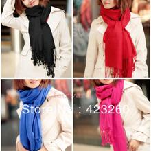Winter Korea Multicolor Long Large Warm Soft Wrap Women Scarf Shawl Tassels