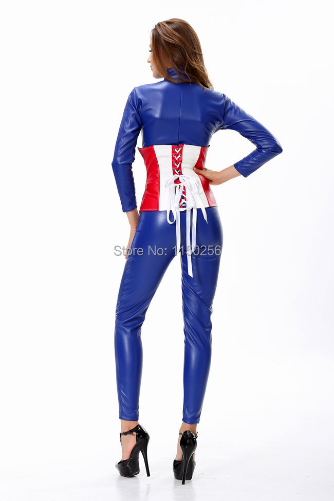 Anime Characters Jumpsuit : Anime superman one piece cosplay costume sexy cool women