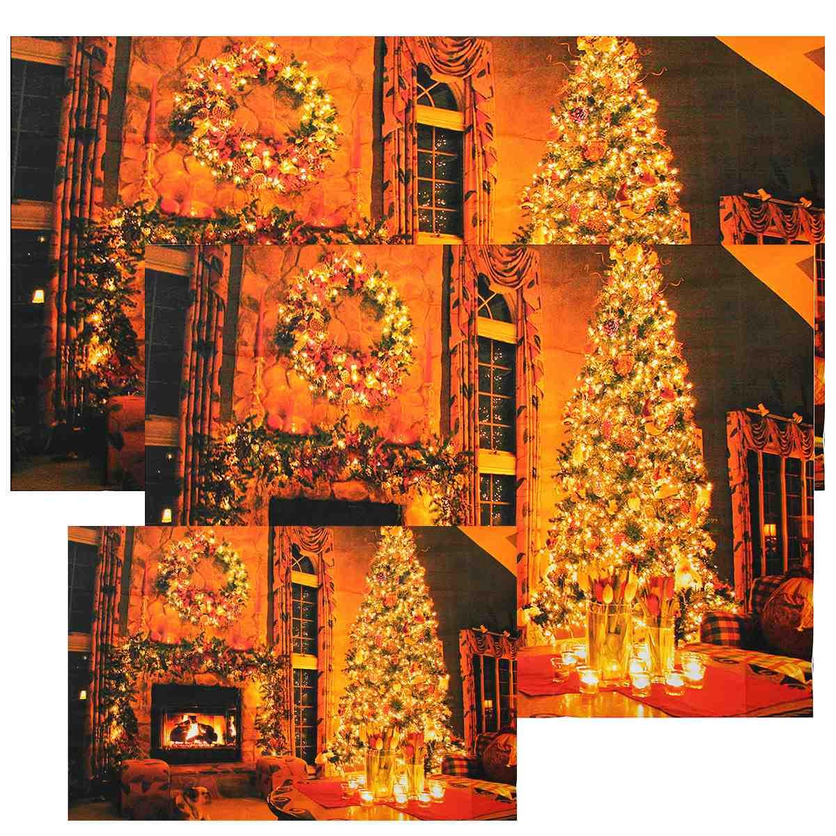 3 Size New Christmas Tree Vinyl Backdrop Photography Perfect Studio Christmas Backdrops Photography Art Cloth Fabric(China (Mainland))