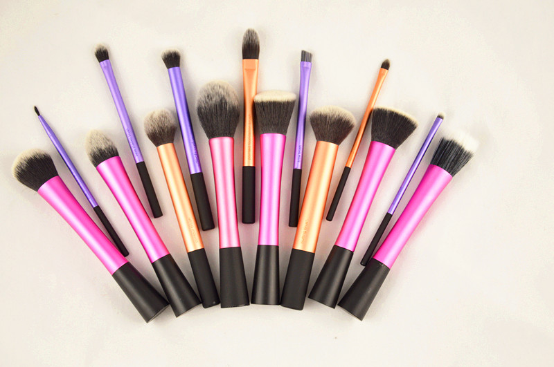 Sedona High Quality 15 pieces/set soft hair dense more style Gold makeup brush cosmetic complete kit for make up Professional(China (Mainland))