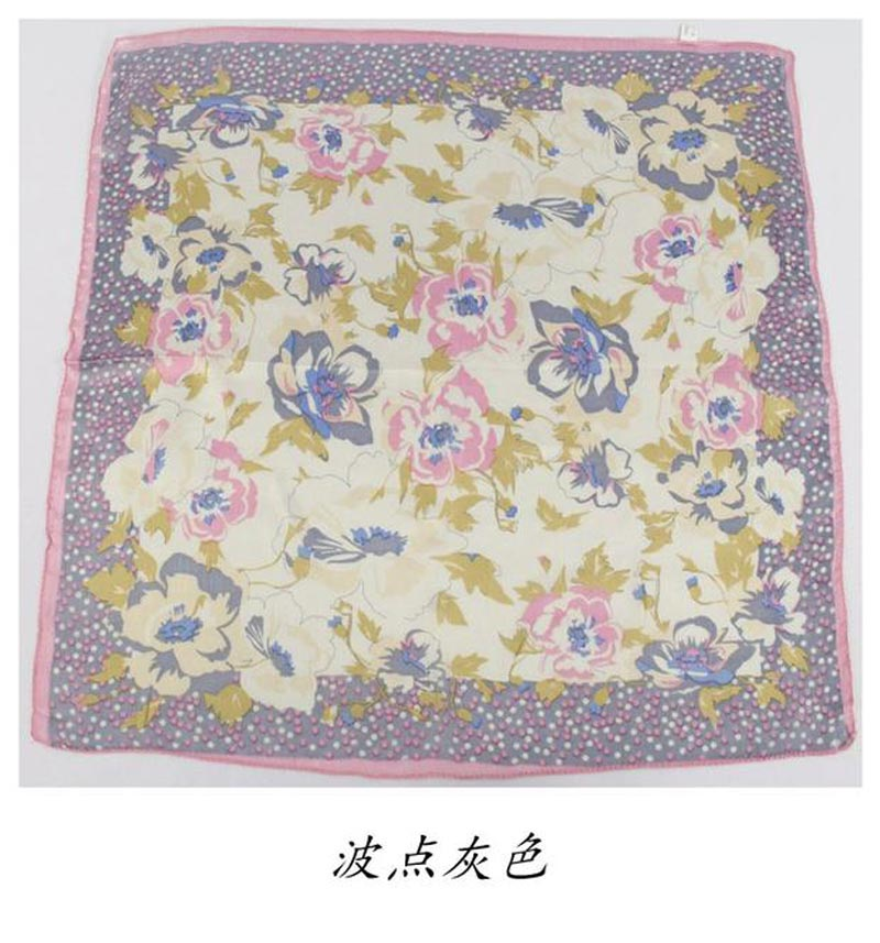 2016 New woman printed silk scarves, 100% silk small square scarves 50cm, crepe satin plain square female handkerchief scarves(China (Mainland))