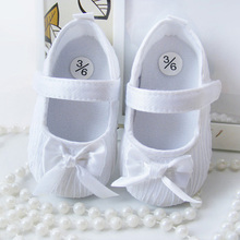 Fashion New Baby Girls Shoes Toddler Infant Soft Prewalker Anti-Slip Shoes Wedding Princess Shoes White Pink(China (Mainland))