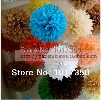 26colors paper flowers ball 20cm (8inch)paper tissue pom poms crafts garland for wedding/christmas/valentine party supplie(China (Mainland))
